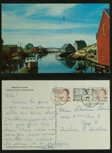 Peggy's Cove Nova Scotia pmk 1973 Rictobucto NB
