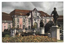 Portugal National Palace Queluz Front Azereiros Garden Vintage 4X6 Postcard