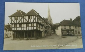Vintage Real Photo Postcard  Guild Hall And Church Thaxted Essex A1C