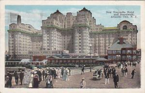 New Traymore Hotel and Crowded Boardwalk, Atlantic City, New Jersey, 1925 PU