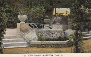 Illinois Peoria Geode Fountain Bradley Park 1909