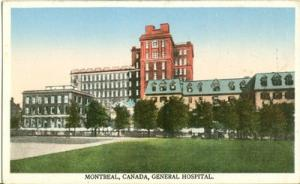 Canada, Montreal, General Hospital, early 1900s unused Po...