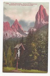 Italy Alps Roadside Shrine Tschamintal Sattelspitze Vintage