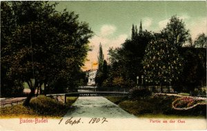 CPA AK Baden-Baden- Partie an der Oos GERMANY (889015)