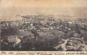 Panama Pacific Fleet Birds Eye View Antique Postcard J79101