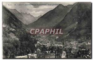 Old Postcard Cauterets Pyrenees Htes general view