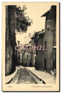 Old Postcard Lyon La Montee du Gourguillon