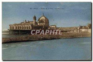 Old Postcard Nice Palace Jetee The Seagulls