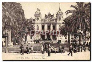 Old Postcard Monte Carlo Casino