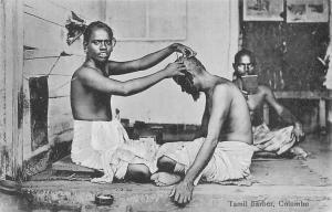 Sri Lanka Ceylon Colombo Tamil barbier, Ethnic
