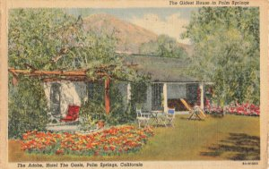 Postcard The Adobe Hotel The Oasis Palm Springs California Posted 1949