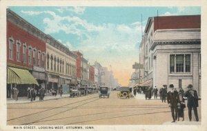 OTTUMWA , Iowa, 1910s; Main Street, looking West