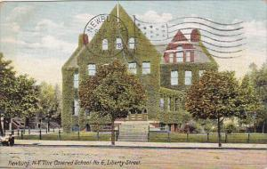 New York Newburg Vine Covered School No 6 Liberty Street 1908