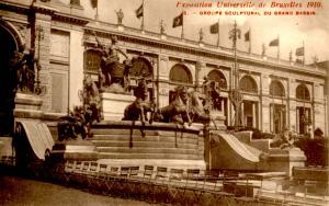 Belgium - Exposition Universelle de Bruxelles, 1910. Grand Basin & Sculptures