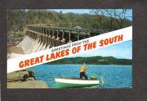 TN Greetings From Great Lakes Missouri Falls Dam Rock Island Sparta McMinnville