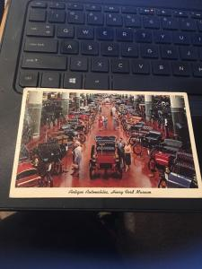 Vtg Postcard: Antique Automobiles , Henry Ford Museum