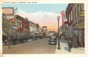 LPA72 Long Island New York Atlantic Avenue Town View Postcard
