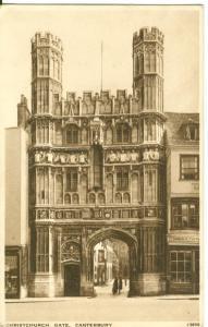 Christchurch Gate, Canterbury, 1941 used Postcard