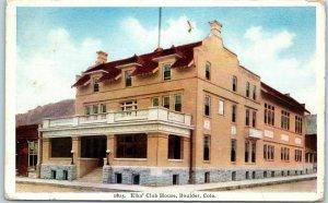 Boulder, Colorado Postcard Elks' Club House B.P.O.E. Lodge Building View 1922