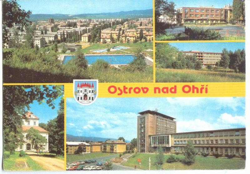 Czech Republic, Ostrov nad Ohri used Postcard