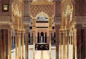 Spain Granada Alhambra, Lions Courtyard Columns, Cour des Lions Colonnes