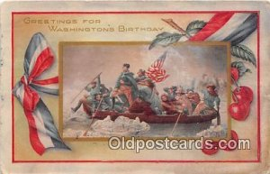 Washington's Birthday 1916 Missing Stamp a lot of stains