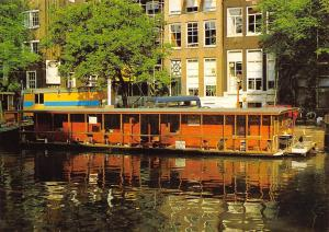 Netherlands Amsterdam Singel with House Boat for Cats Katzen