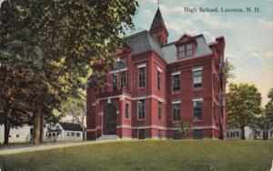 High School Laconia New Hampshire 1916 Curteich