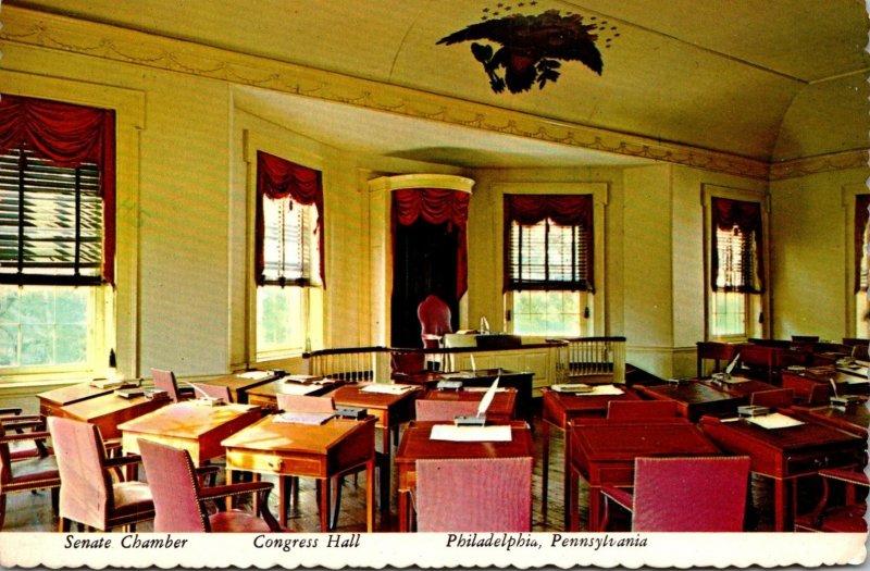 Pennsylvania Philadelphia Congress Hall Senate Chamber 1976