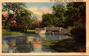 Wisconsin Kenosha Washington Park Curteich