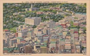 Canada Winnipeg Aerial View Looking North To South 1949