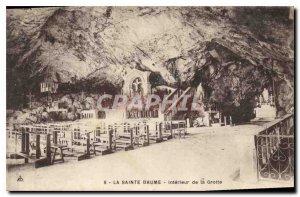 Old Postcard La Sainte Baume Cave Interior
