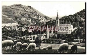 Modern Postcard Lourdes Basilica And The Pic Du Jer