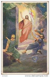 Slovakia Slovakian postcard Jesus/Jehovah From Tomb with Flag, PU-1915