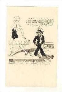 RP  Bathing Beauty Comic,  Hot Stuff! , 1910-20s