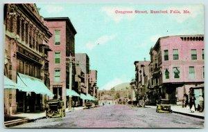 Rumford Falls ME~Israelson Beaux Arts Hattery~Vintage 1910 Cars~Dirt Street PC