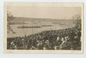 REAL PHOTO POSTCARD ~ US NAVY ~ Ships ~  HUDSON FULTON CELEBRATION ~ 1909