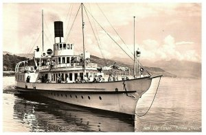 Vintage Lac Leman Bateau Ship Postcard RPPC