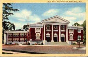 Mississippi Hattiesburg Main STreet Baptist Church 1944 Curteich