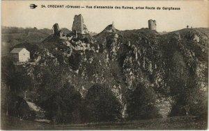 CPA CROZANT Vue d'Ensemble des Ruines prise Route de Gargilesse (1143574)
