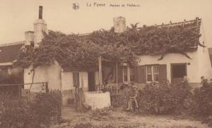 La Panne Fishermans House Fishing Family Fish Maison De Pecheurs Old Postcard