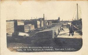 Buffalo NY Taylor & Crate Receiving Dock, (See Message) Real Photo Postcard