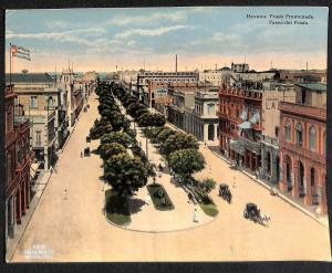 Havana Cuba Prado Promenade Paseo del Prado Street View Postcard