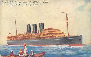 P. & O.R.M.S. Narkunda 16,500 Tons Gross, Australia Mail and Passenger Service