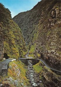 Portugal S. Vicente Seixal (Madeira) Brook of Hell Ribeira do Inferno Bridge Bus