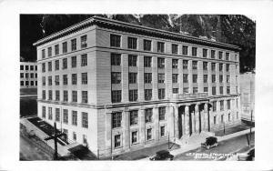 Juneau Alaska~U S Federal & Territorial Capitol Building~1950s Postcard RPPC