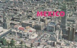 MEXICO CITY, Mexico, 1960-1970s; Air View Of Center Of Mexico City, Ciudad De...