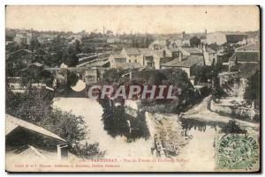 Old Postcard Parthenay Thouet View From the Faubourg St. Paul