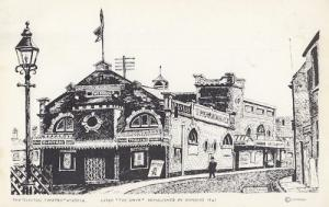 Wisbech Cambridge Electric Theatre Painting Postcard