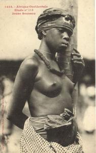 CPA Senegal Ethnic Nude Fortier - 1434. Etude n 113 Jeune Soussou (71050)